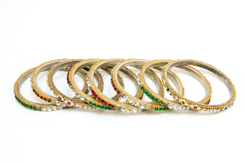 Bangles decorated with shiny beads. Bollywood Indian style bangles