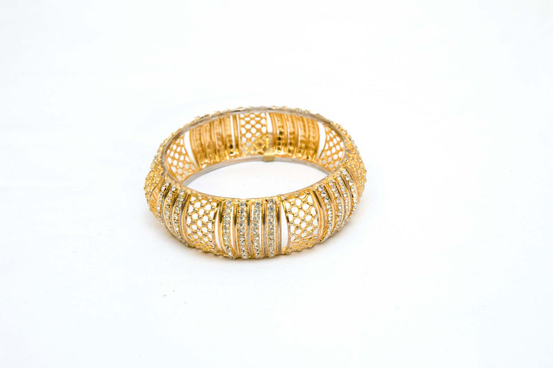 Indian Bollywood Golden Crystal Bracelet-Trendz & Traditionz Boutique