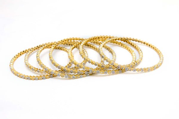Indian Pakistani bangles. Silver and golden color elegantly designed