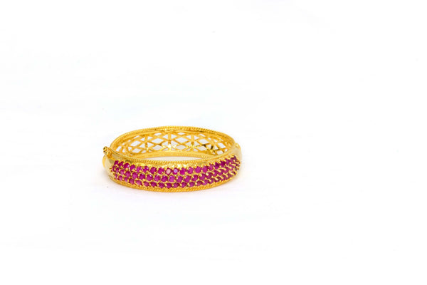 Golden Ruby Synthetic Indian Bollywood- Trendz & Traditionz Boutique