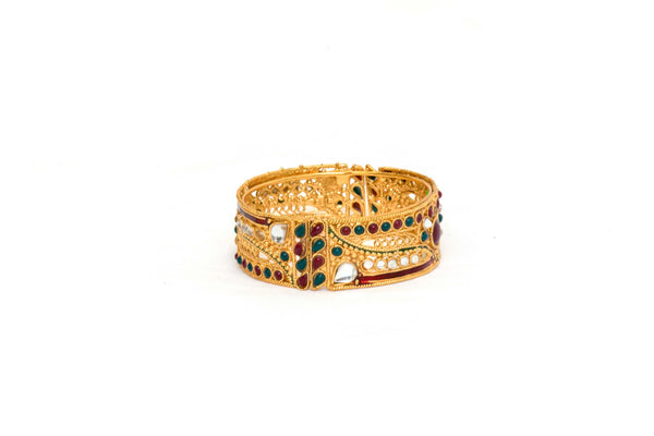 Golden Indian Bracelet Minakari - Trendz & Traditionz Boutique