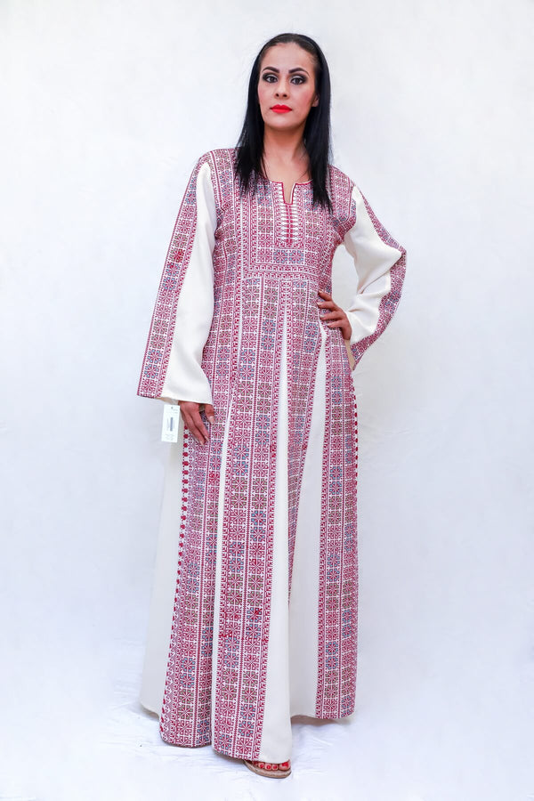 Embroidery Cross Stitch Gown-Trendz & Traditionz Boutique