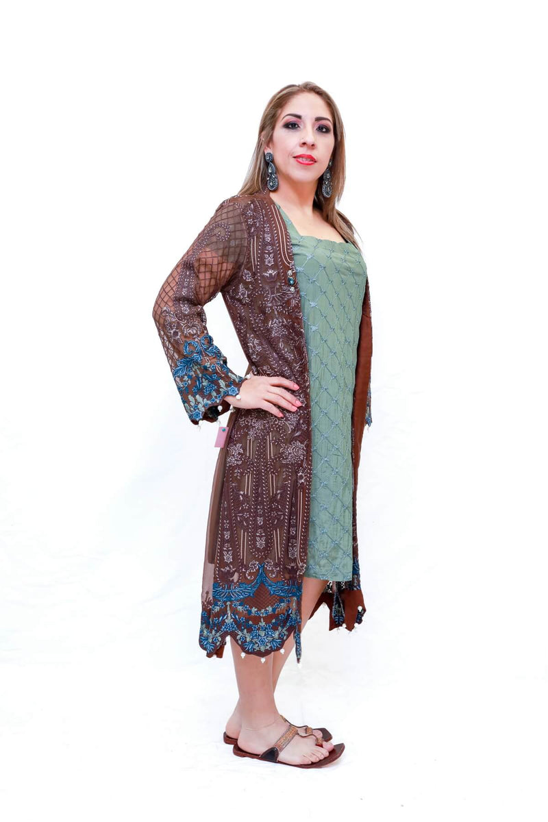 Silk Embroidery Dress - Trendz & Traditionz Boutique