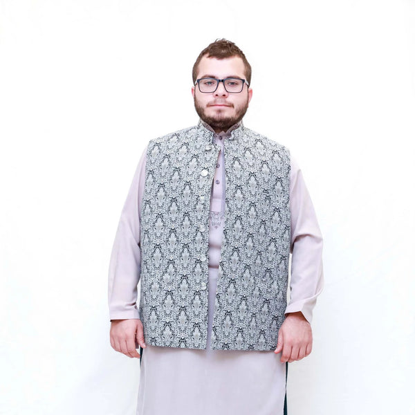 Men Cotton Embossed Vest - Trendz & Traditionz Boutique