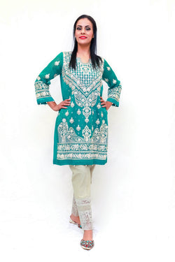 Silk Embroidery Beaded Shirt - Trendz & Traditionz Boutique