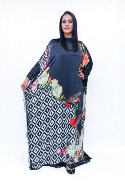 Silk Printed Gown- Trendz & Traditionz Boutique