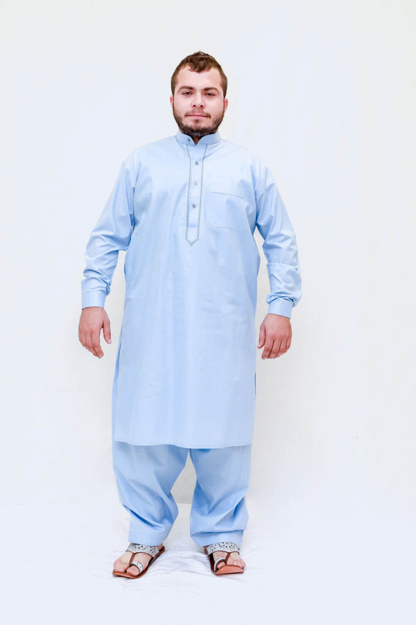 Men Cotton Embroidery Color Suit Salwar Kameez- Trendz & Traditionz Boutique