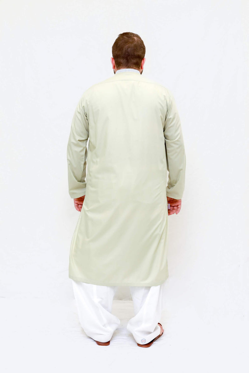 Indian Pakistani Men Yellow Cotton Shirt-Trendz & Traditionz Boutique