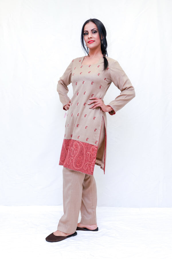 Indian Pakistani Kashmir Wool Embroidery Dress-Trendz & Traditionz Boutique.