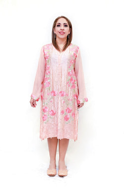 Silk Embroidery Agha Noor Shirt- Trendz & Traditionz Boutique
