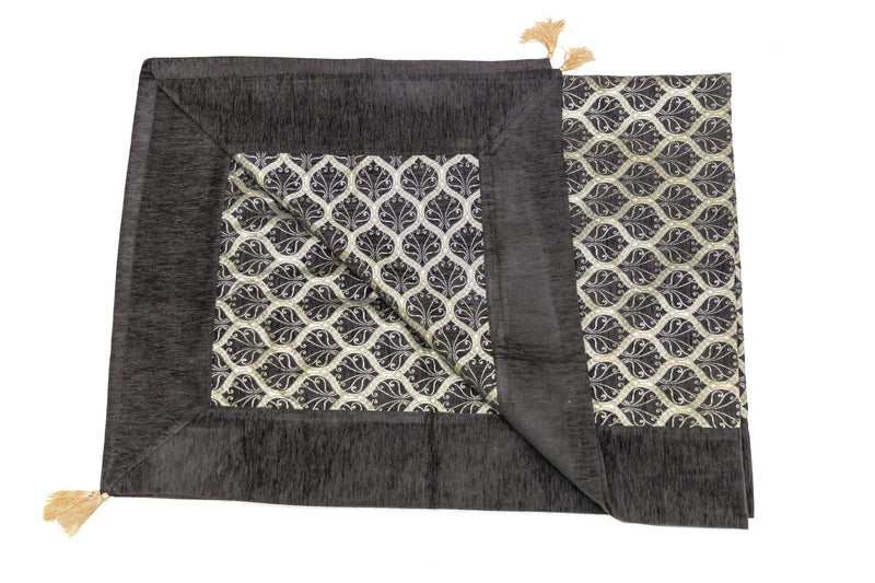 Ottoman-Turkish Quilted Bed Cover Black- Trendz & Traditionz Boutique