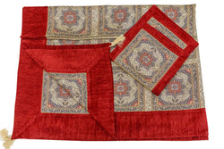 Turkish-Ottoman Bed Cover with Pillow Cases - Trendz & Traditionz Boutique