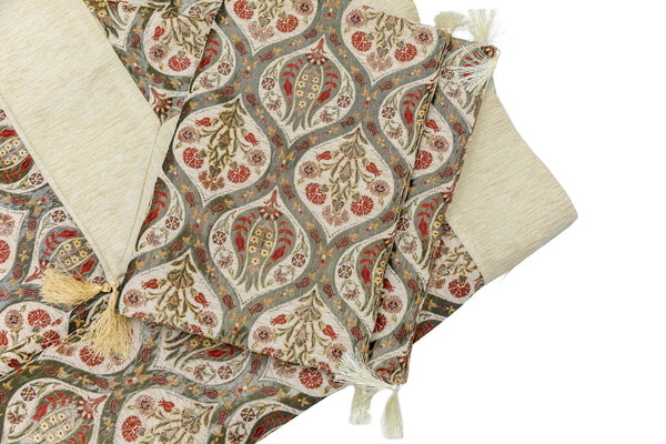 Turkish-Ottoman Bed Cover with Pillows Trendz & Traditionz Boutique