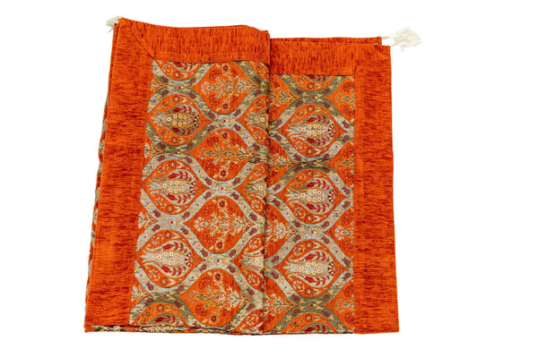 Turkish-Ottoman Orange Bed Cover- Trendz & Traditionz Boutique