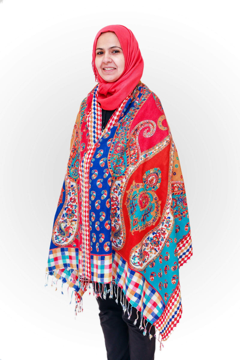 Kashmir Wool Pashmina Embroidery Shawl - Trendz & Traditionz Boutique