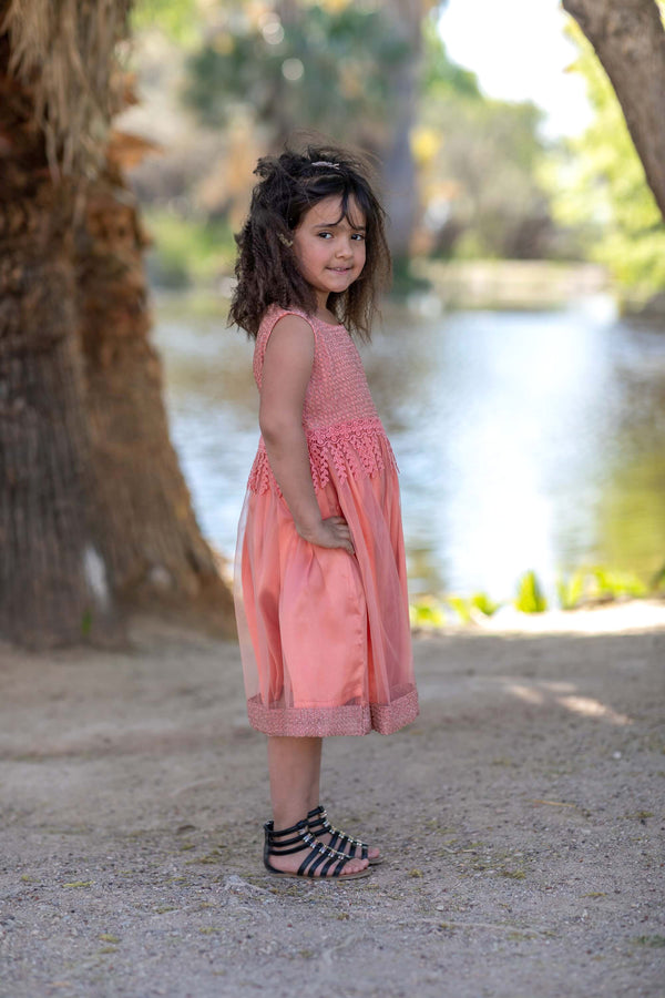 Pink Girls Dress-Frock - Trendz & Traditionz Boutique