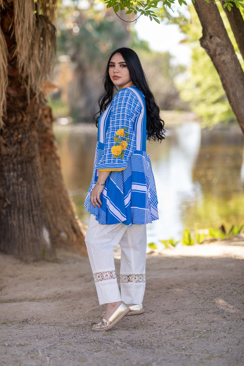 Jersey Printed Shirt-Top & Pant- Trendz & Traditionz Boutique