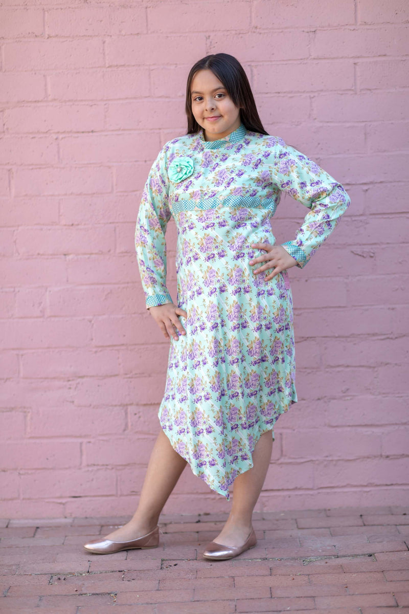 Rayon Floral Printed Dress for Girls - Trendz & Traditionz Boutique