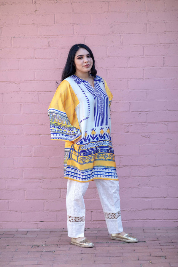 Silk Printed Shirt - Trendz & Traditionz Boutique