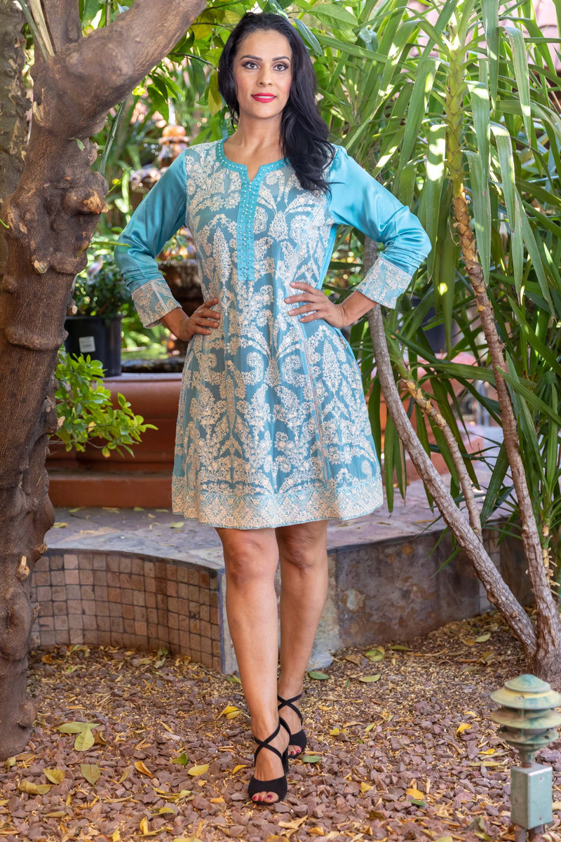Embroidery Chiffon Shirt Kurti- Trendz & Traditionz Boutique
