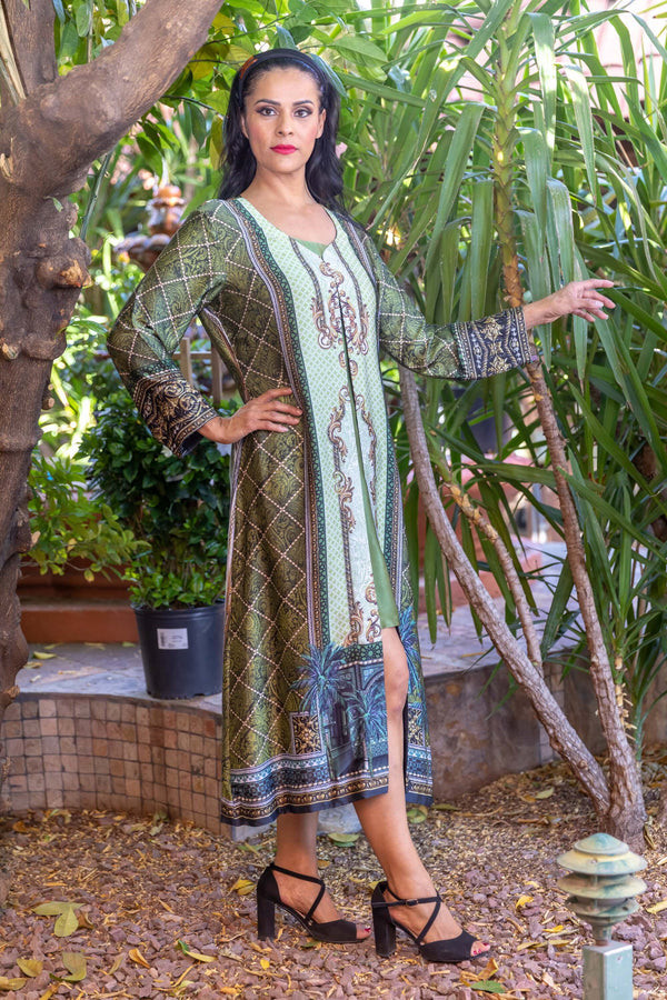 Gulahmed Silk Dress- Trendz & Traditionz Boutique