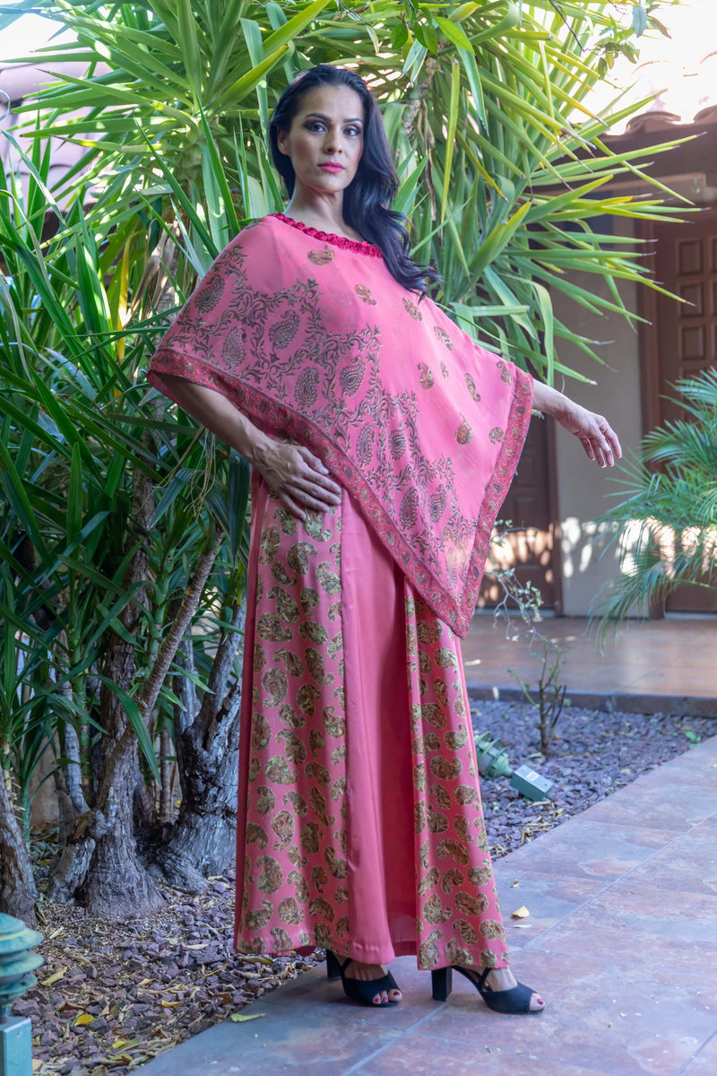 Silk Printed Long Dress- Maxi - Trendz & Traditionz Boutique