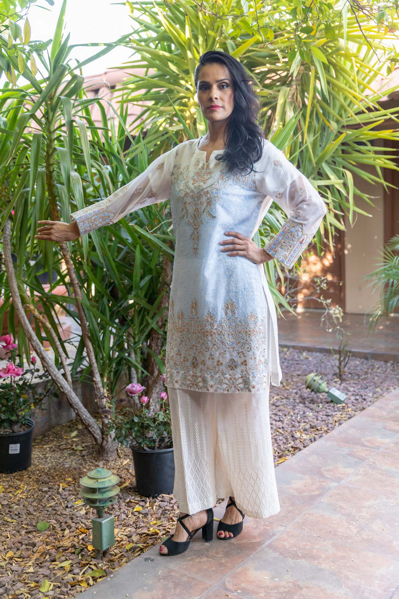 Silk Chiffon Dress-Salwar Kameez - Trendz & Traditionz Boutique