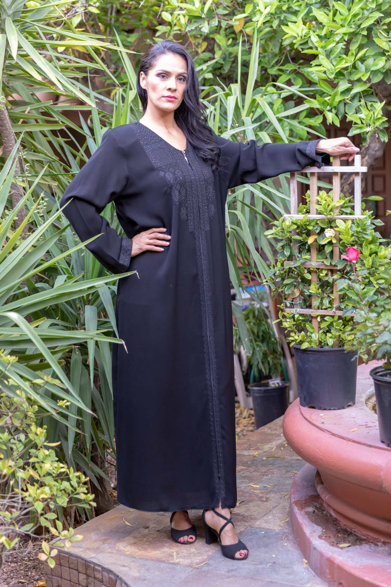 Black Abaya Long Maxi Gown - Trendz & Traditionz Boutique