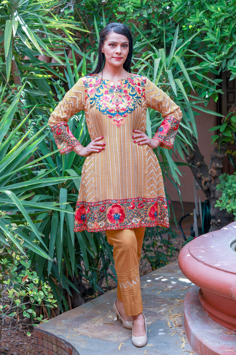 Rust Orange Salwar Kameez Suit- Trendz & Traditionz Boutique