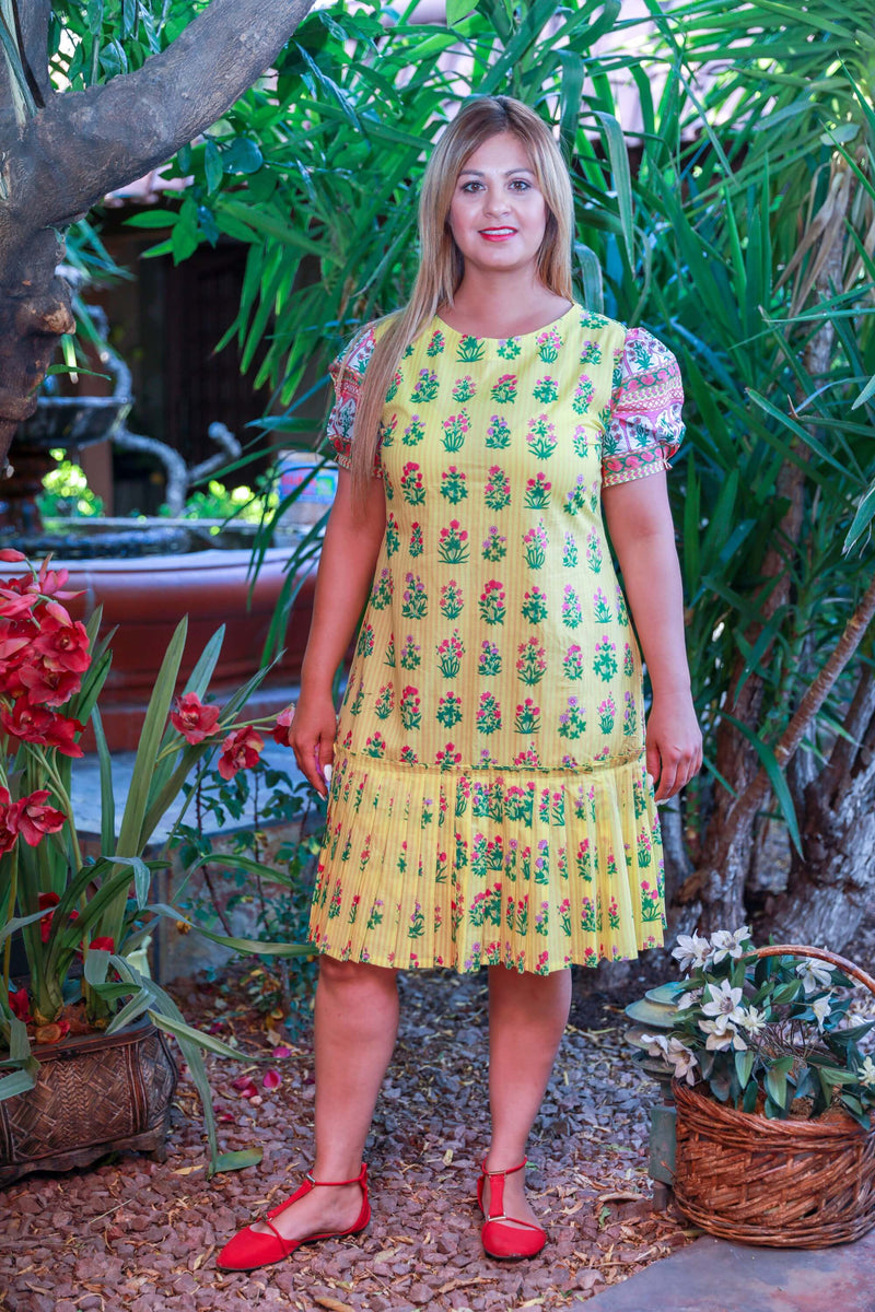 Yellow Khaadi Cotton Dress - Trendz & Traditionz Boutique