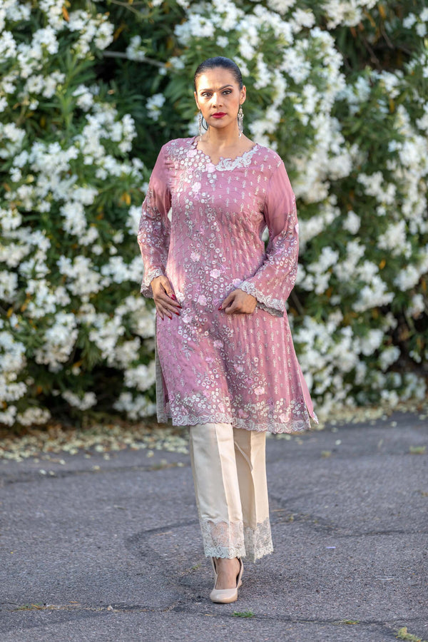 Pink Chiffon Salwar Kameez Suit - Trendz & Traditionz Boutique