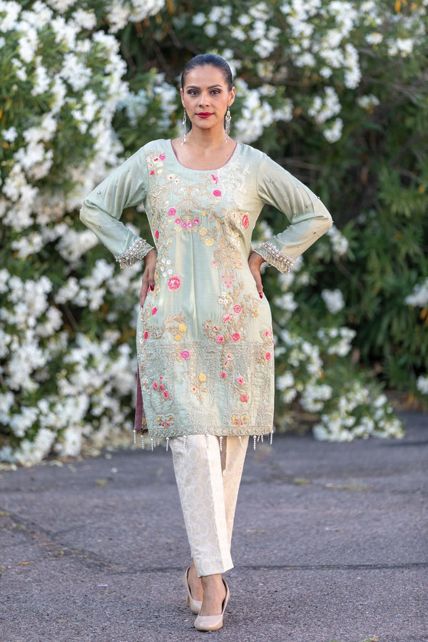 Silk Embroidered Salwar Kameez Suit - Trendz & Traditionz Boutique