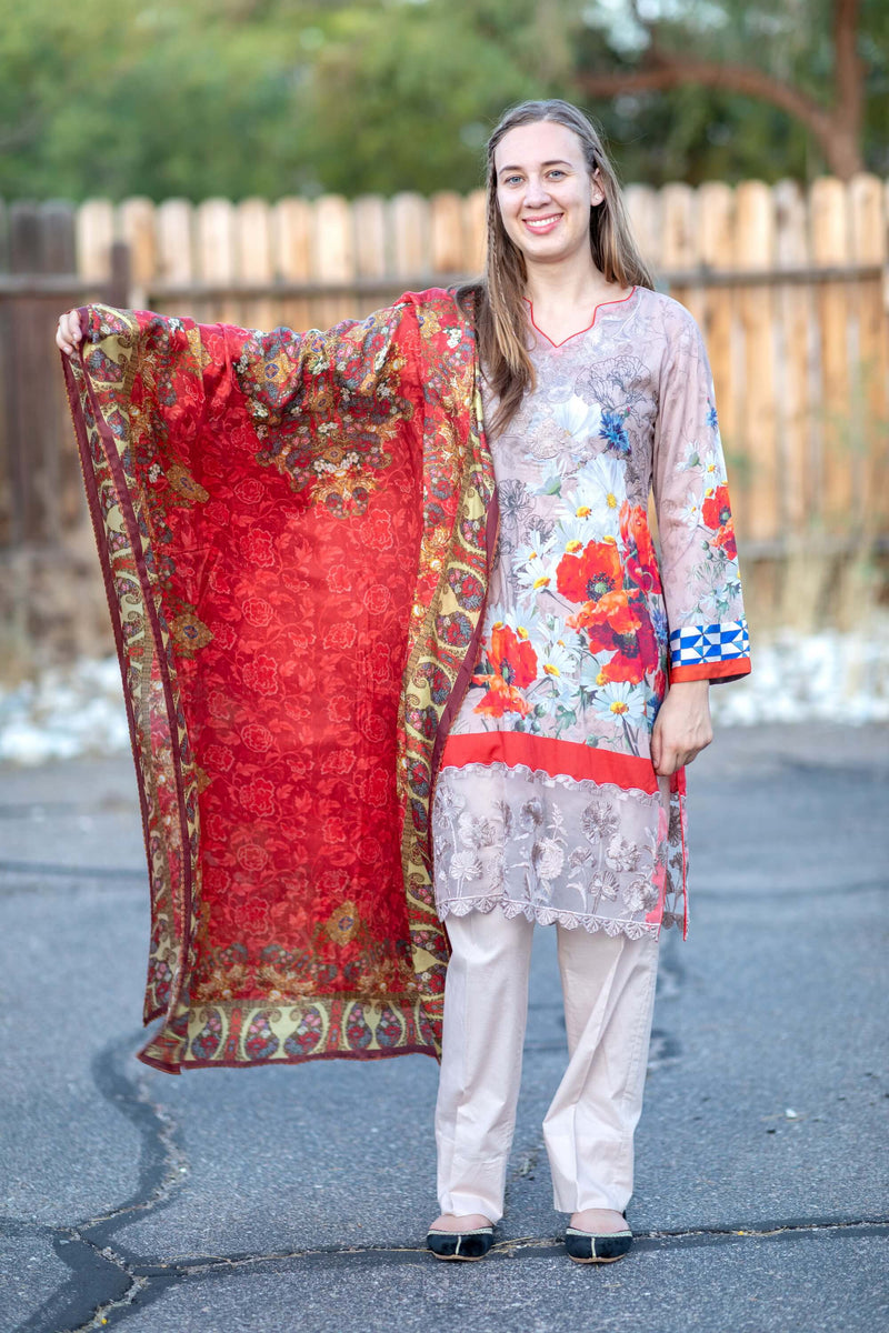Honey Waqar Summer Lawn Suit- Trendz & Traditionz Boutique