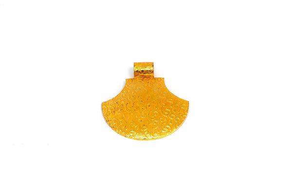 Simple Gold Pendant - Trendz & Traditionz Boutique
