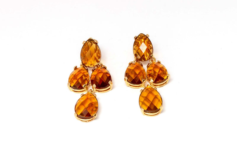Amber Hanging Earrings - Trendz & Traditionz Boutique