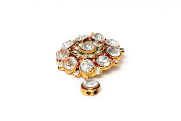 Gold Pendant Decorated With Rhinestones - Trendz & Traditionz Boutique