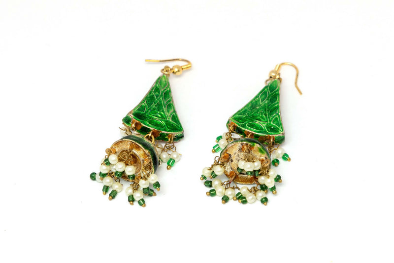 Green Dangle Earrings - Trendz & Traditionz Boutique