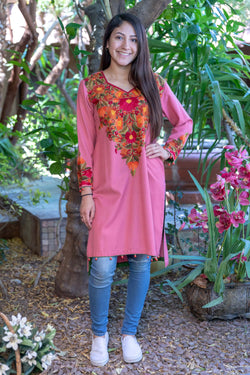 Kashmir Hand Embroidery Shirt- Trendz & Traditionz Boutique