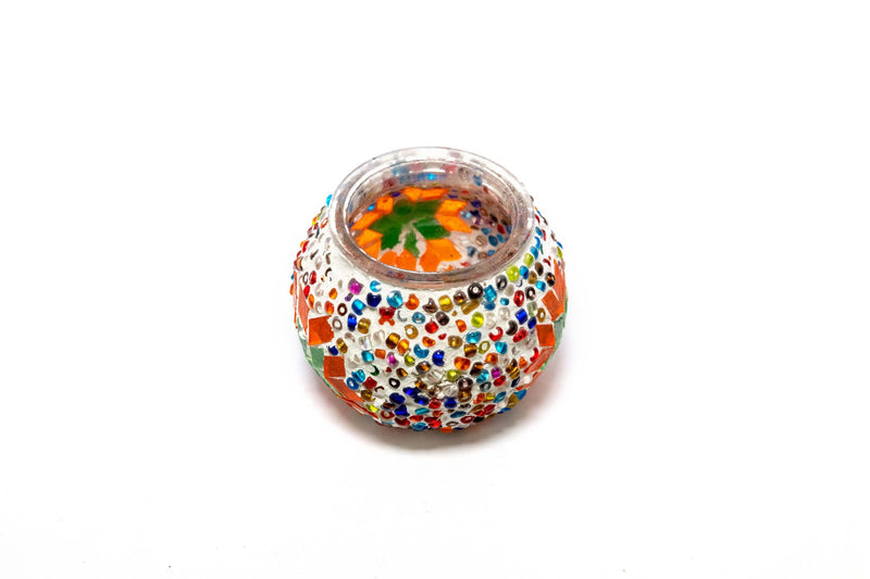 Multi Colored Turkish Mosaic Candle holder - Trendz & Traditionz Boutique