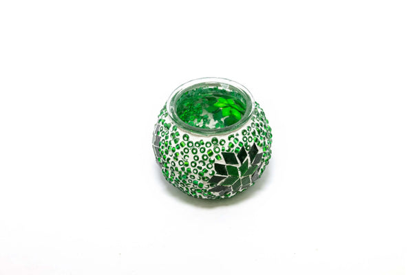 Green Turkish Mosaic Candle Holder - Trendz & Traditionz Boutique