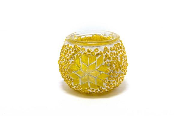 Yellow Turkish Mosaic Candle Holder - Trendz & Traditionz Boutique