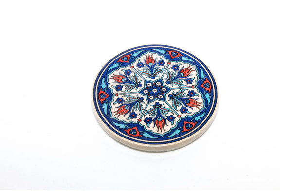 Hand Painted Ceramic Turkish Coaster - Trendz & Traditionz Boutique
