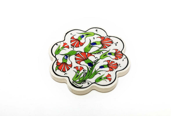 Hand Painted Turkish Ceramic Coaster - Trendz & Traditionz Boutique
