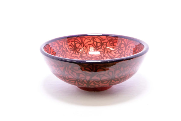 Hand Painted Red Turkish Ceramic Bowl - Trendz & Traditionz Boutique