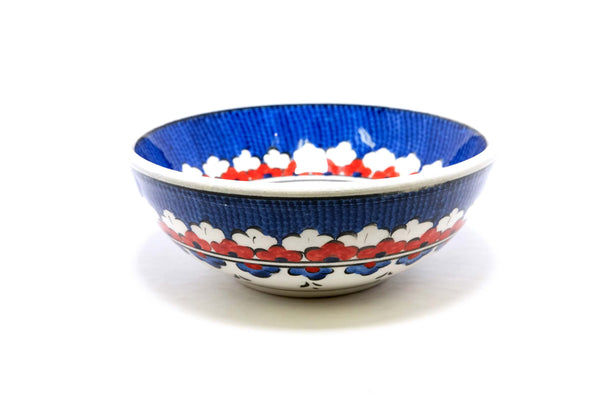 Hand Painted Ceramic Bowl With Floral Design - Trendz & Traditionz Boutique