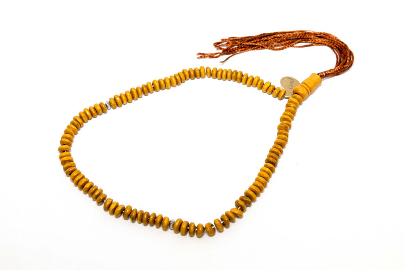 Yellow Wooden Beaded Necklace - Trendz & Traditionz Boutique