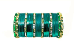 Teal Metal Bangles - Trendz & Traditionz Boutique