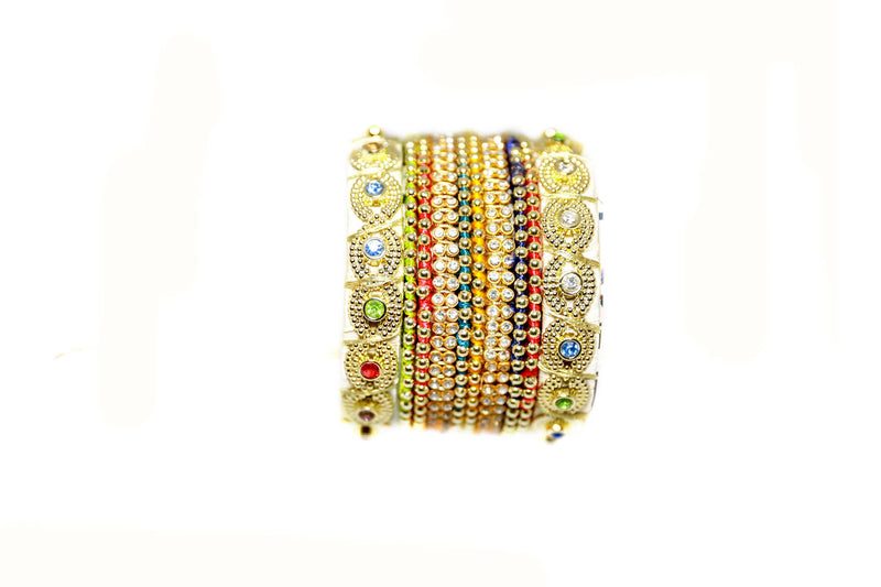 Gold Bangles With Stones - Trendz & Traditionz Boutique