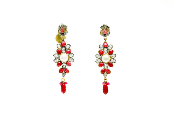 Crystal Pearl Dangle Earrings - Trendz & Traditionz Boutique