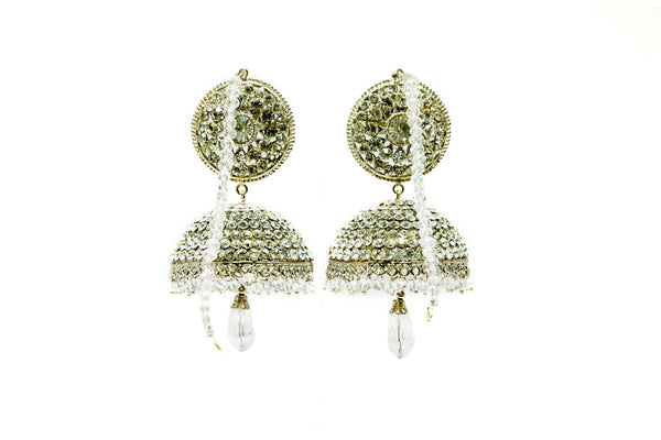 Green Jhumka Bell Earrings - Trendz & Traditionz Boutique